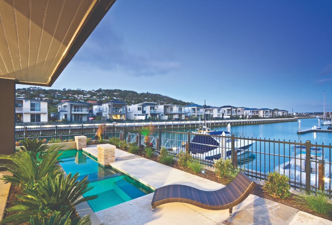 Martha Cove Luxury Pool Building